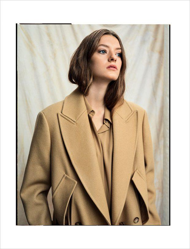 coat and dress: Michael Kors