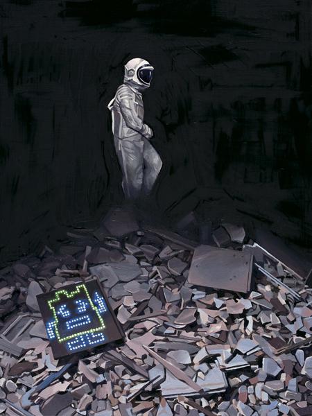 Astronaut Dinosaur by Scott Listfield