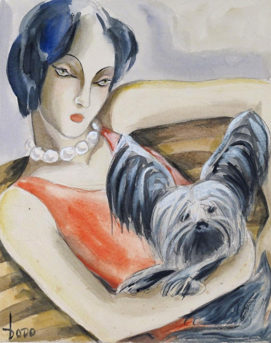 Женщина с собакой (Woman with a dog)