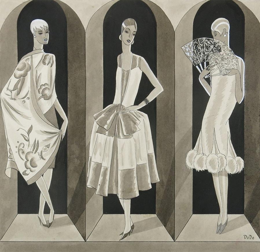 Три модели на показе мод (Three Models at a Fashion Show)