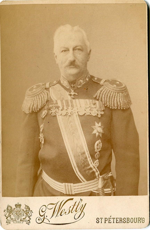 Кон. XIXв. Фотография генерал-майора К.П.Прежбяно. Флигель-адъютант. Генерал от артиллерии.