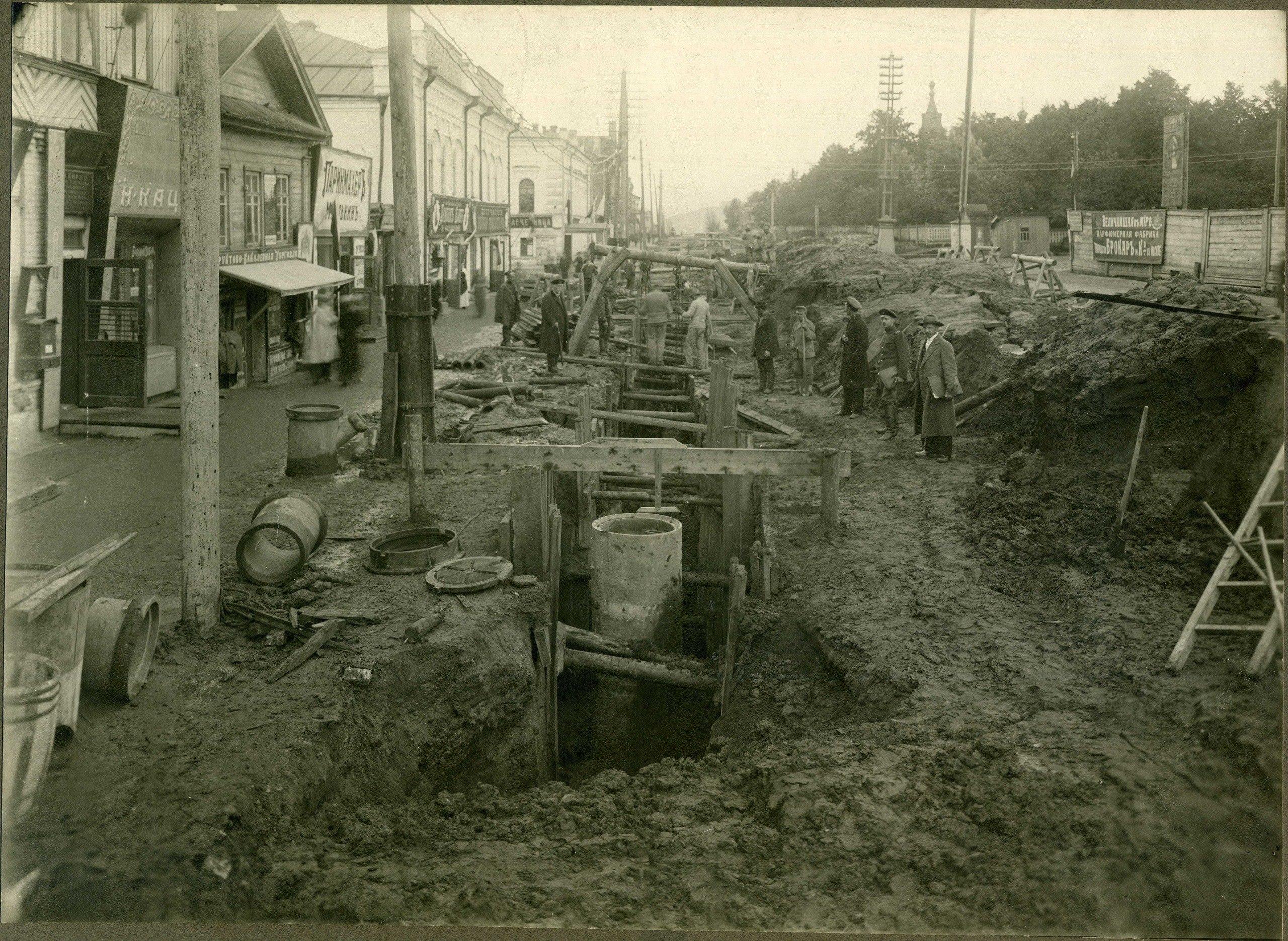 Прокладка канализации по улице Торговой