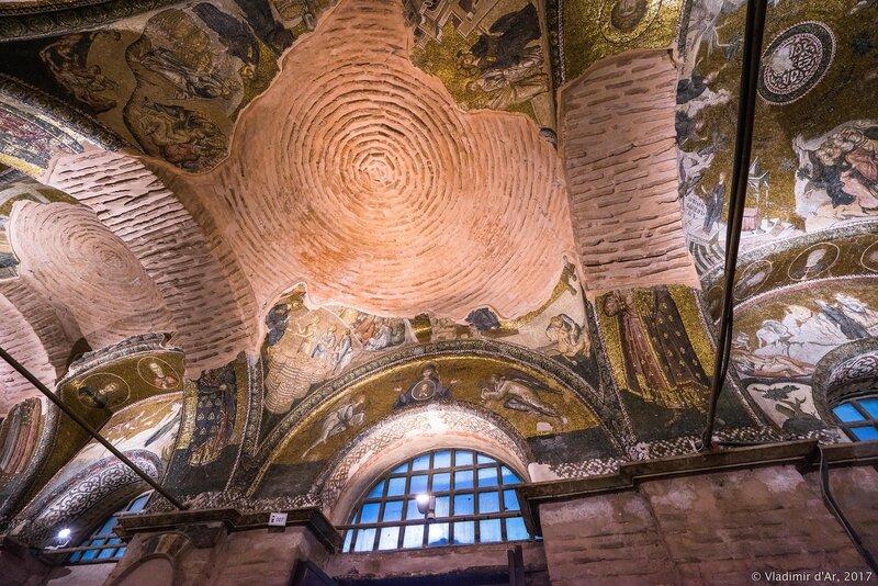 Третий компартимент. Мозаики и фрески монастыря Хора. Церковь Христа Спасителя в Полях.