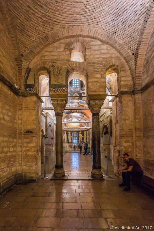 Мозаики и фрески монастыря Хора. Церковь Христа Спасителя в Полях. Седьмой компартимент.