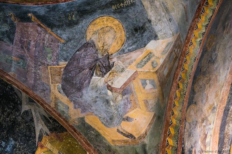Феофан Начертанный. Мозаики и фрески монастыря Хора. Церковь Христа Спасителя в Полях.