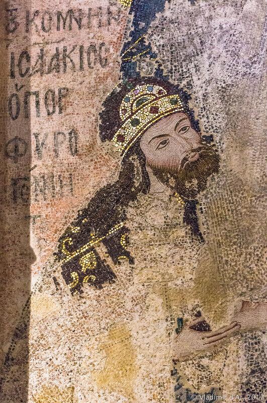 Комнин. Деисус. Мозаики и фрески монастыря Хора. Церковь Христа Спасителя в Полях.