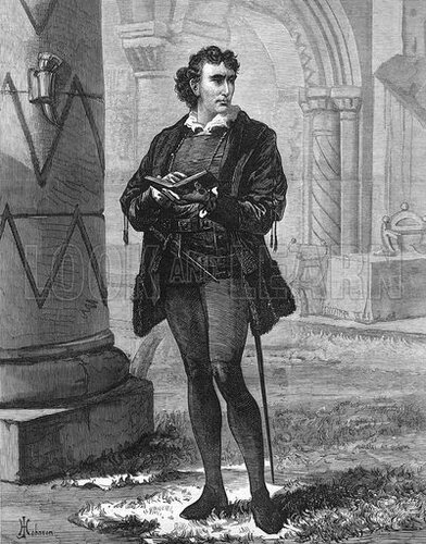 Mr Henry Irving as Hamlet at the Lyceum Theatre