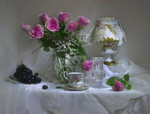 ...букет из роз с поэзией осенней...