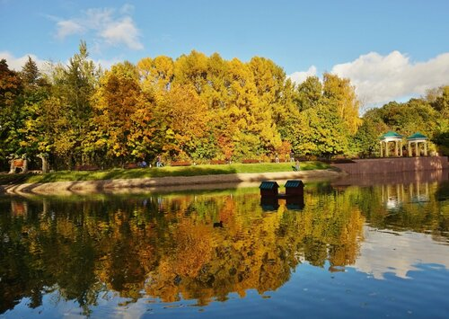 Осенних красок отраженья....
