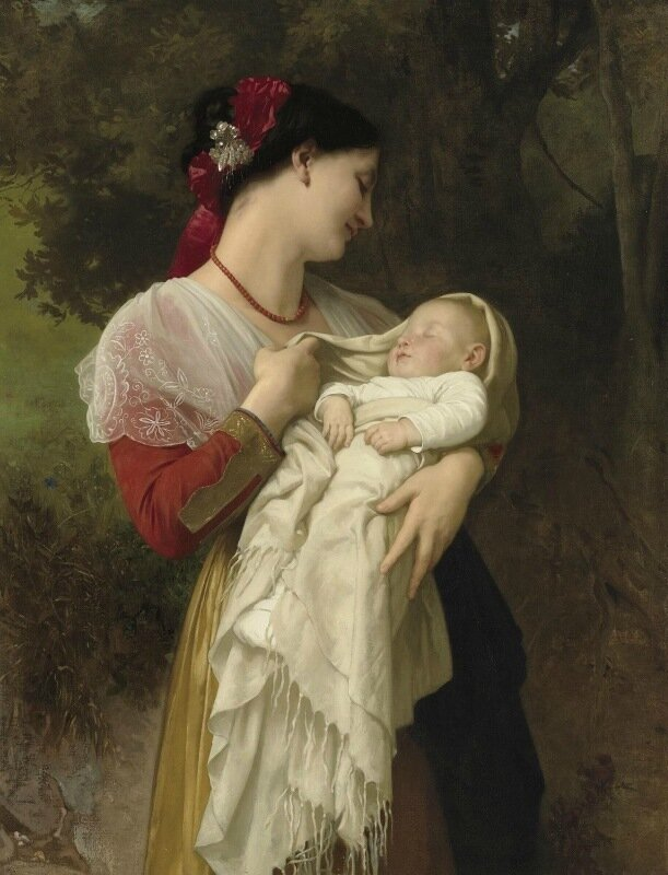 Адольф Вильям Бугро Adolphe William Bouguereau Maternal Admiration