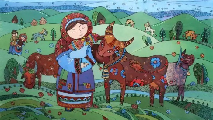 Картины на стекле / художник Натали Курий-Максымив