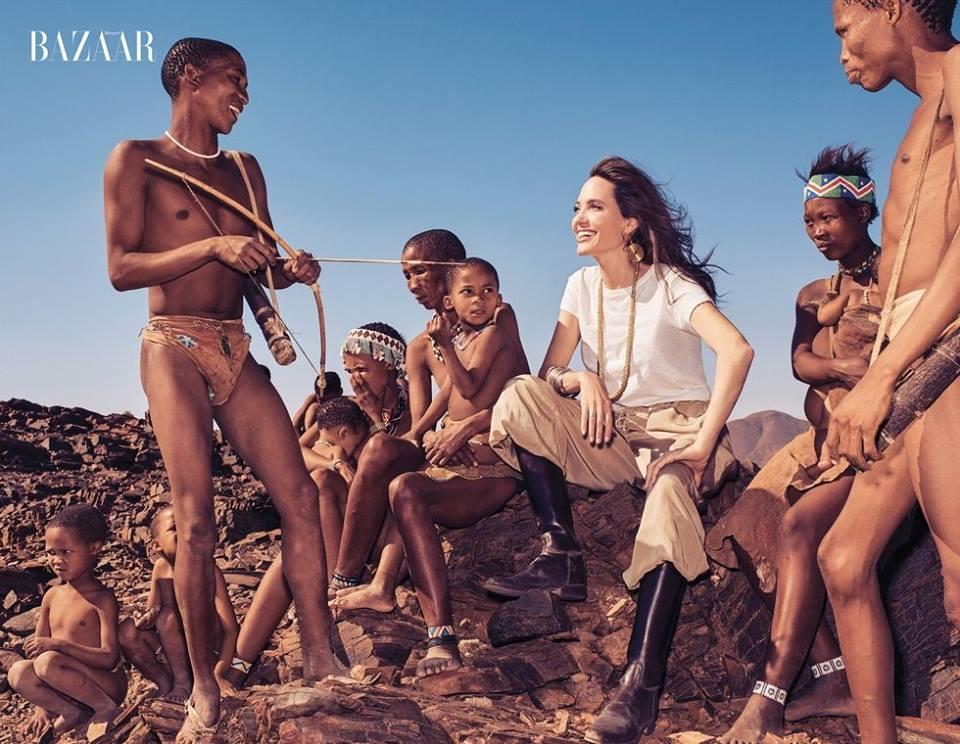 Анджелина Джоли в Harper's Bazaar