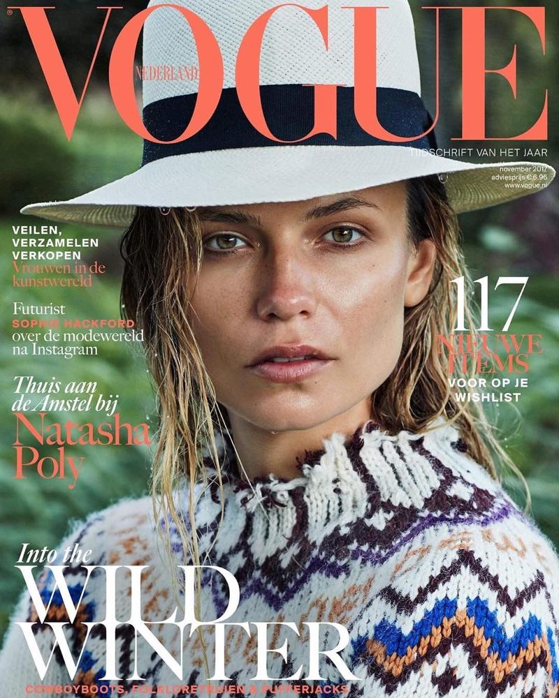 Наташа Поли в ноябрьском Vogue (9 фото)