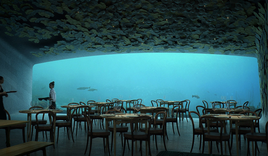 Такого Вы ещё не видели: подводный ресторан в Норвегии от бюро Snohetta