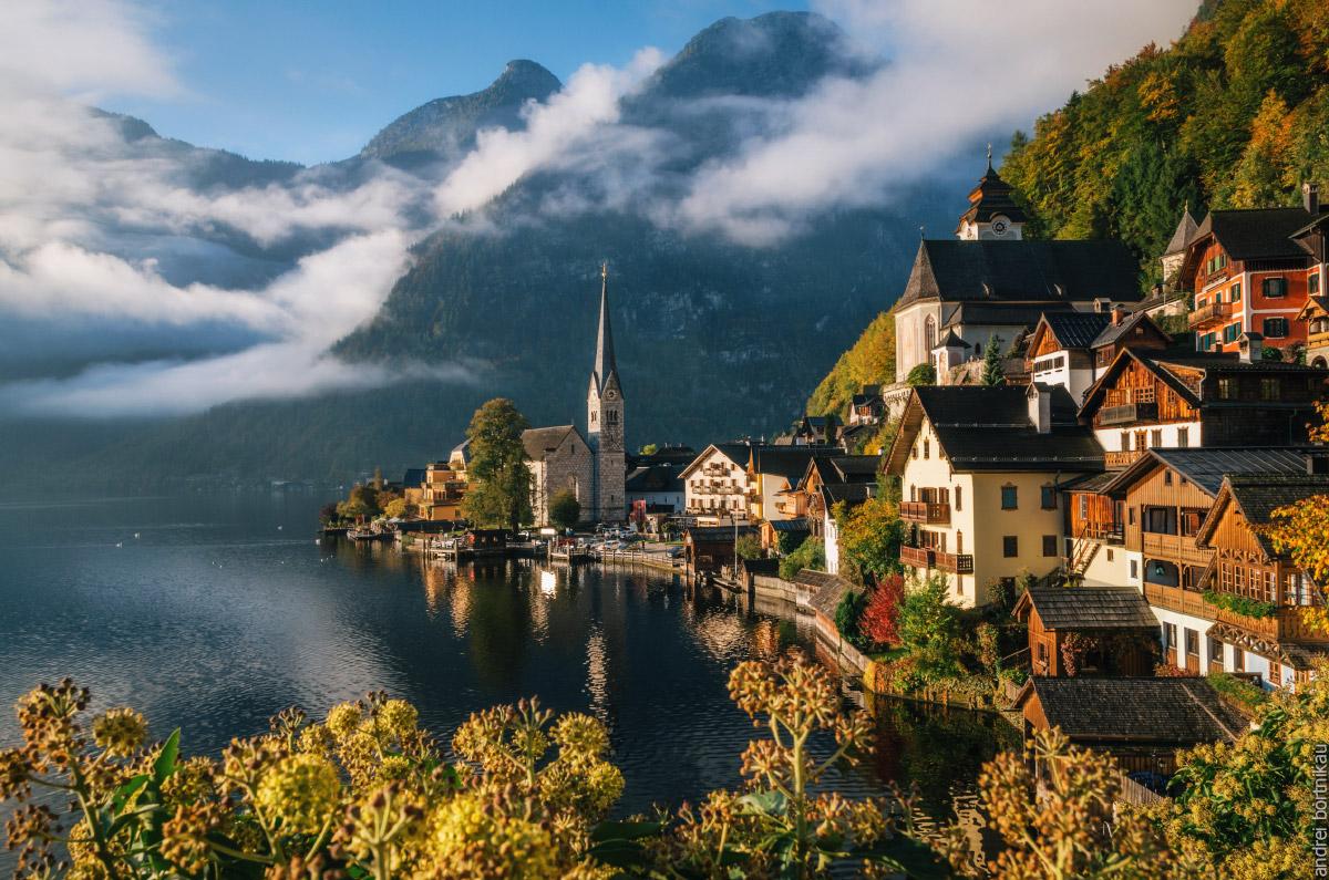 Халльштатт на рассвете, Австрия