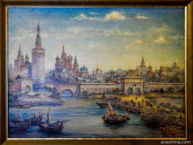 Васильевский спуск в конце XVII века. Реконструкция
