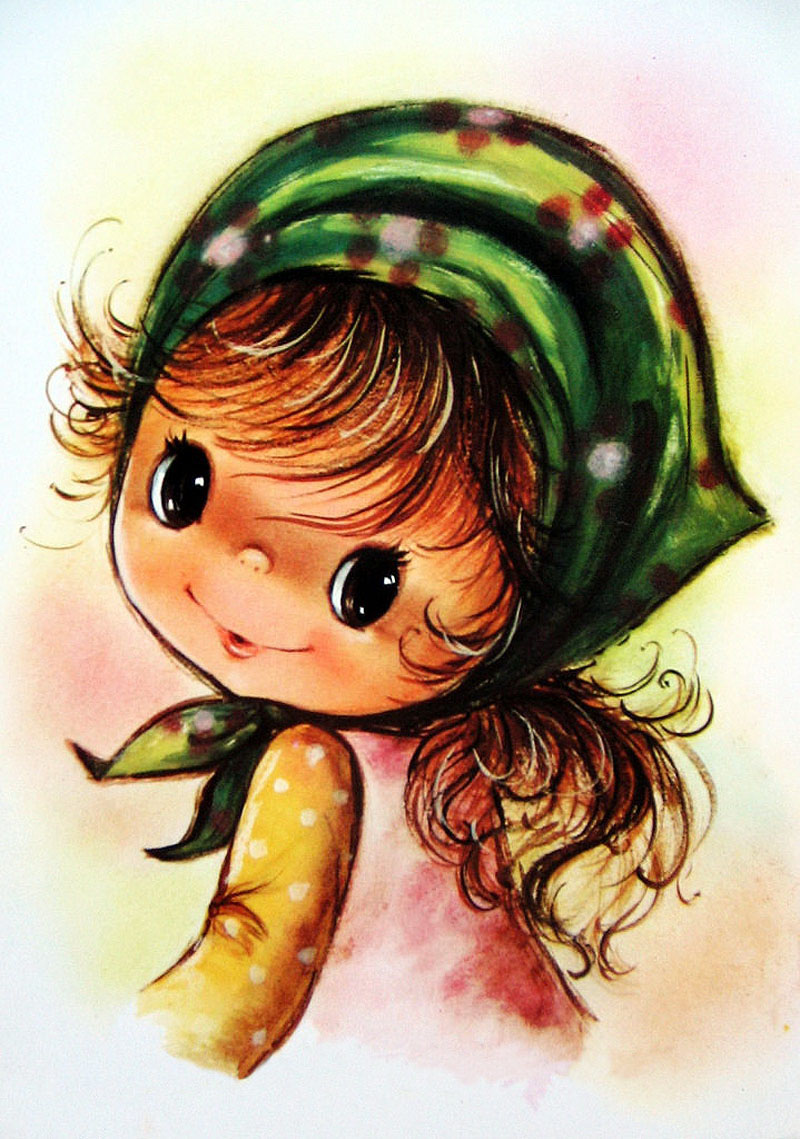 Новорожденным, открытка глазастая девочка