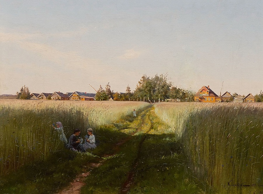 Летний день. Деревня Орлино. 1888—1889