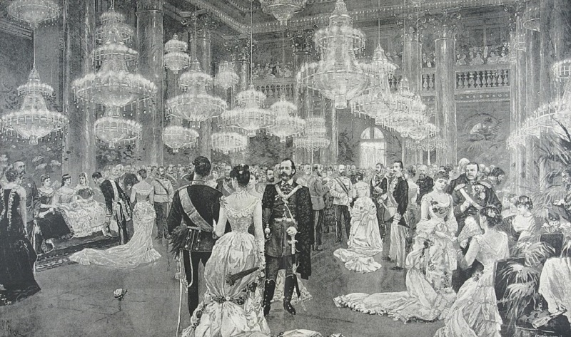 Hofball in Wien. Xylographie, nach Wilhelm Gause