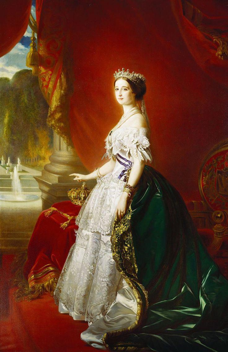 Franz Xaver Winterhalter Empress Eugénie in court dress.