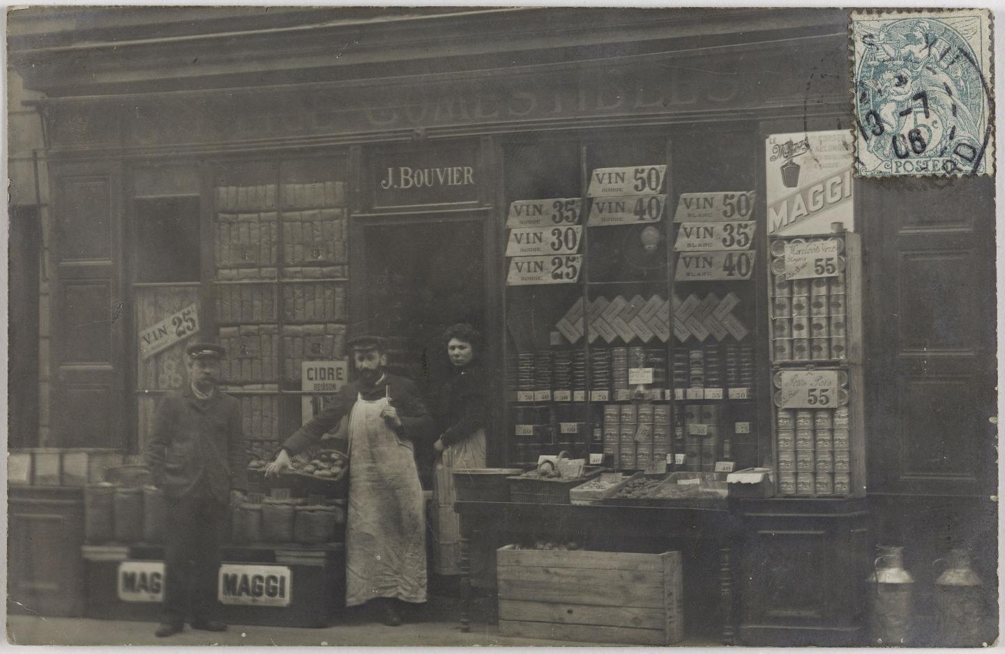 1906. Продукты и алкоголь.186, rue de Charenton (12-й округ). Сейчас Агентство недвижимости