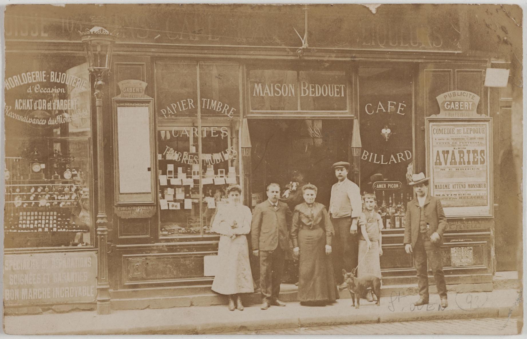 1906. Кафе, бильярд, табак, открытки. 103, rue du Temple; Магазин подержанных часов и ювелирных изделий, 103, rue du Temple. Сейчас на этом месте то же самое
