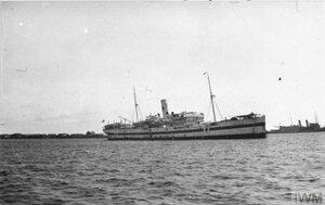 Британский госпитальный корабль в Архангельске, 1919