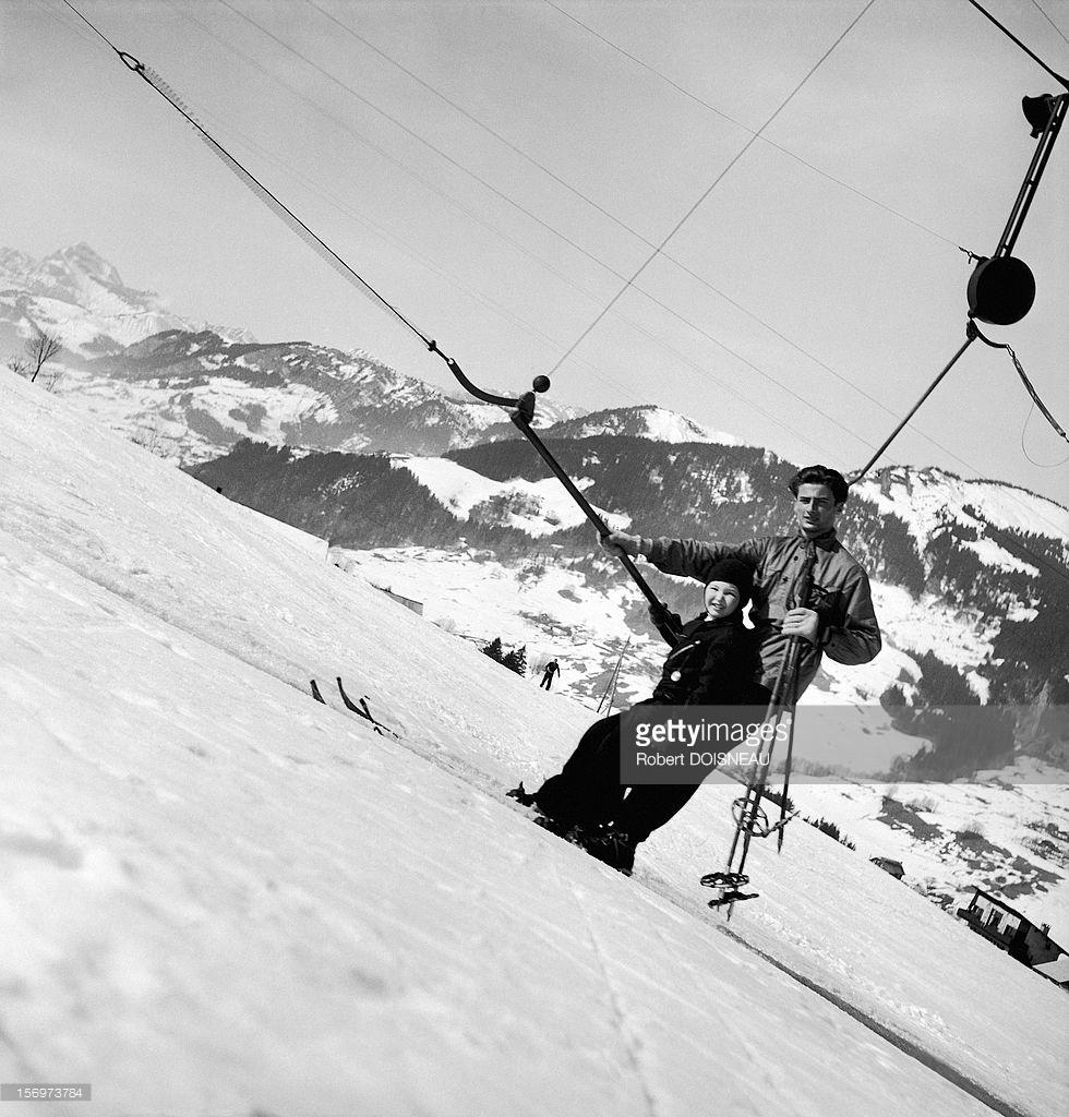 1936. Лыжный фуникулер. Межев