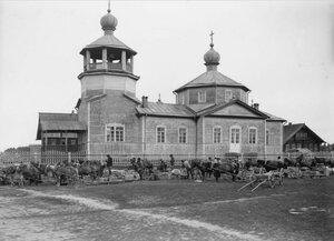1919. Подводы с продовольствием готовятся покинуть Тавду