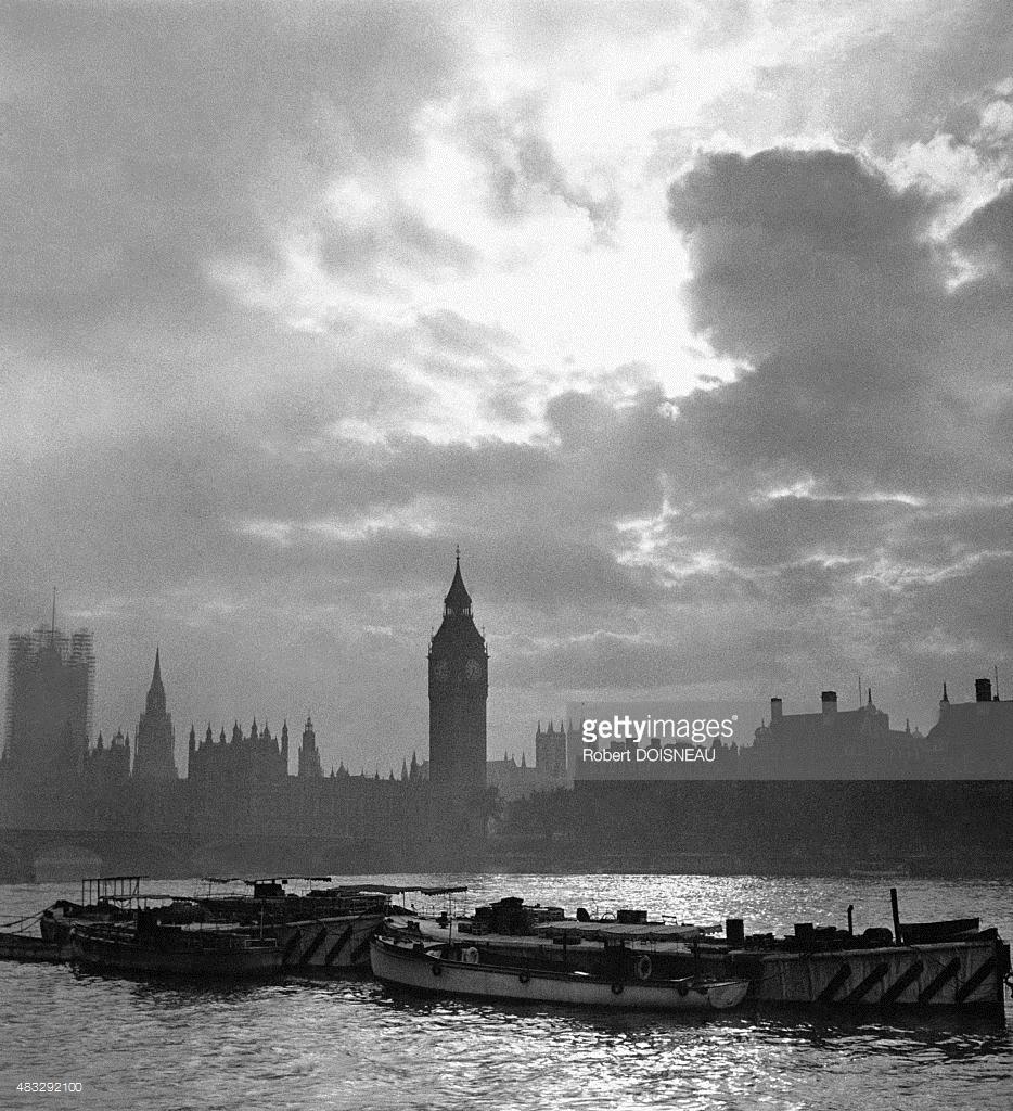 1950. Лодки на реке Темзе
