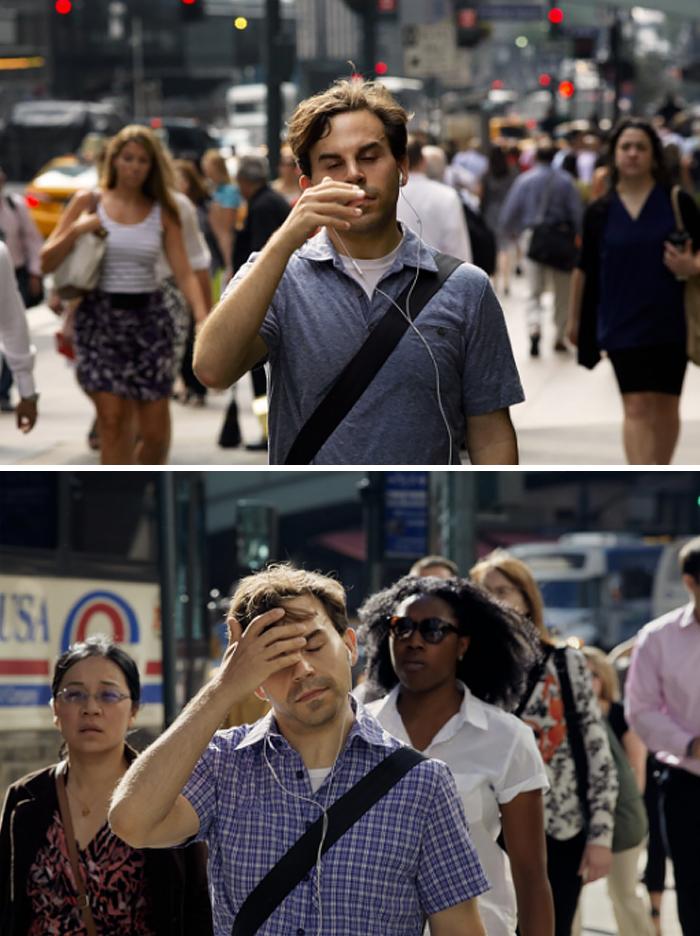 Фотограф 9 лет снимал людей, идущих на работу, чтобы показать, как они меняются со временем