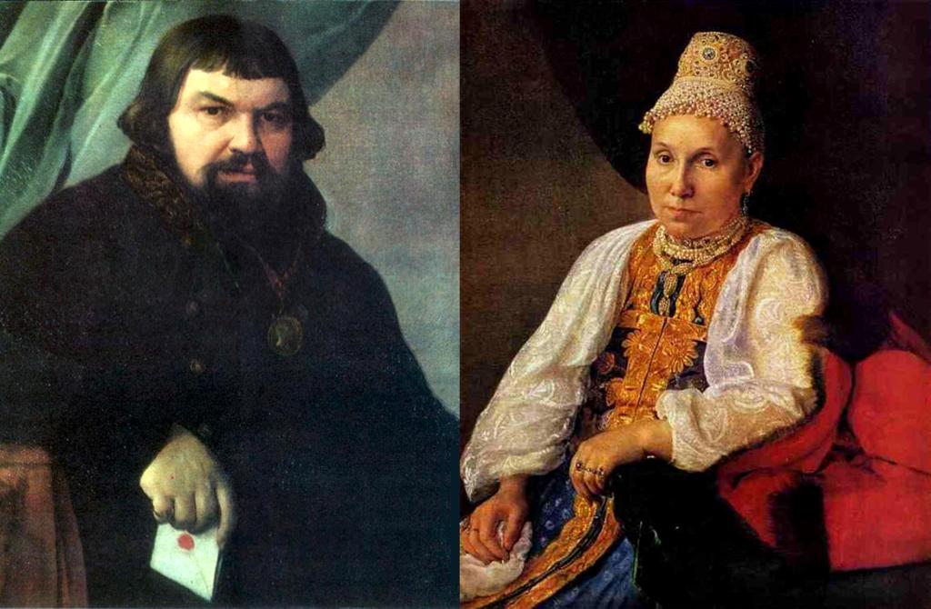Купцы Образцовы, Венецианов