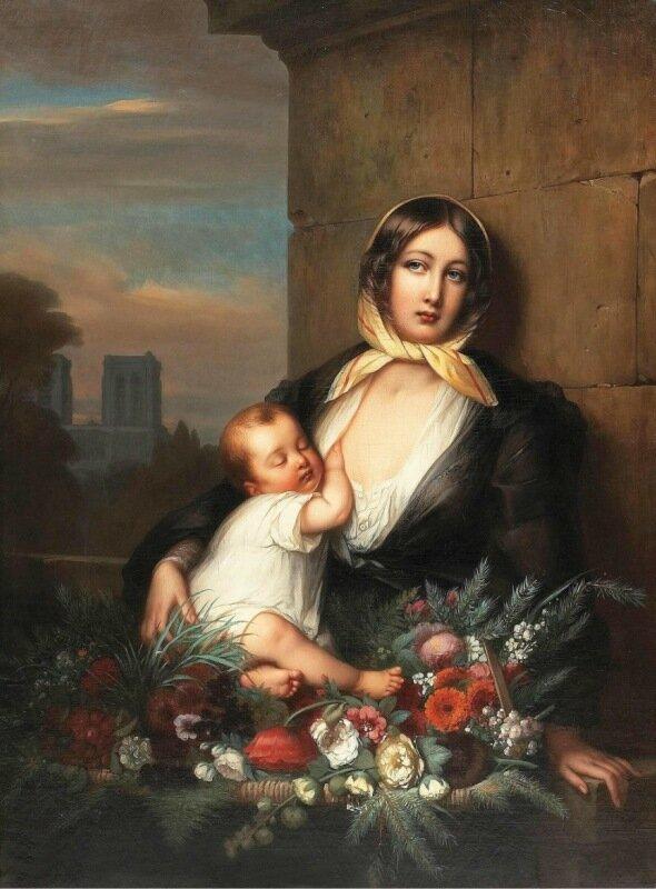 Неизвестный французский художник,19 век