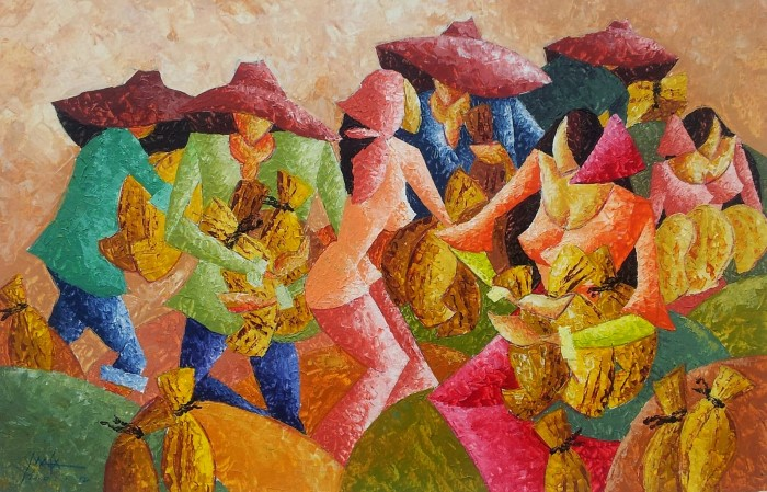 Жизнь на Филиппинах / художник Marilyn M. Magpantay