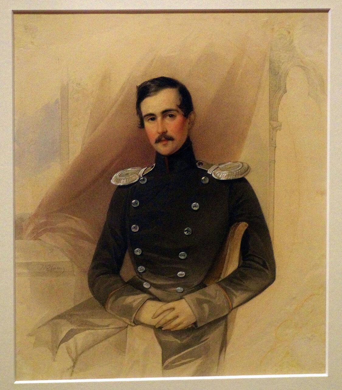 Владимир Иванович Гау. Портрет А.Н. Челищева. 1841
