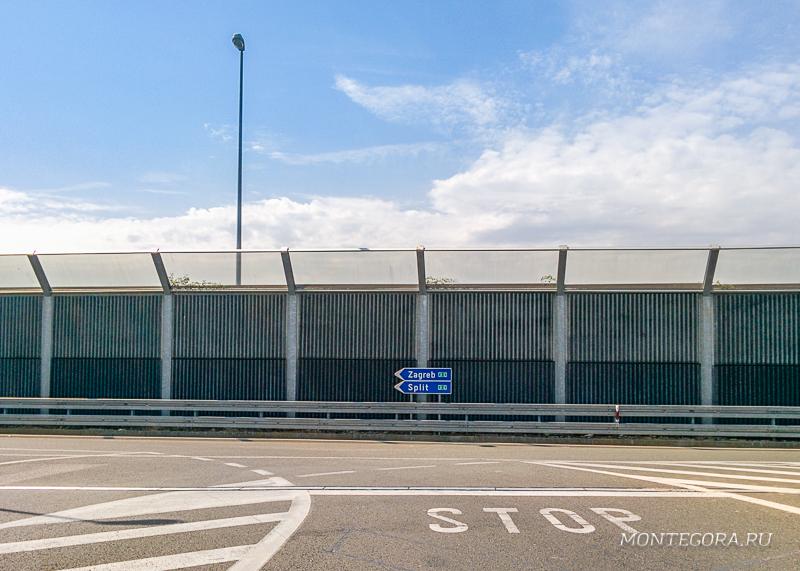 Развязка дороги до Загреба в Хорватии