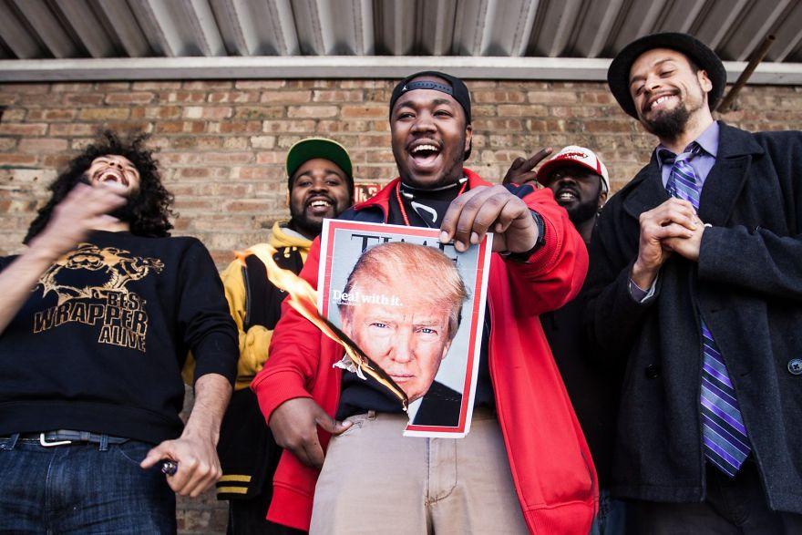 Чикагские рэперы высказывают мнение.