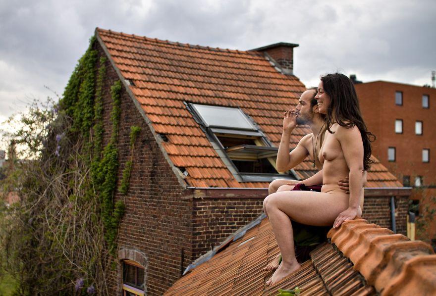 Жизнь хороша! Бельгия. Кадр из сатирического фотопроекта Дэвида Тесински, который разрушает стереоти