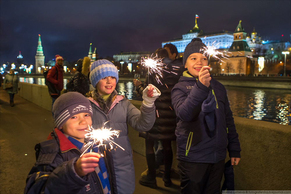Как в Москве 2018-й встречали