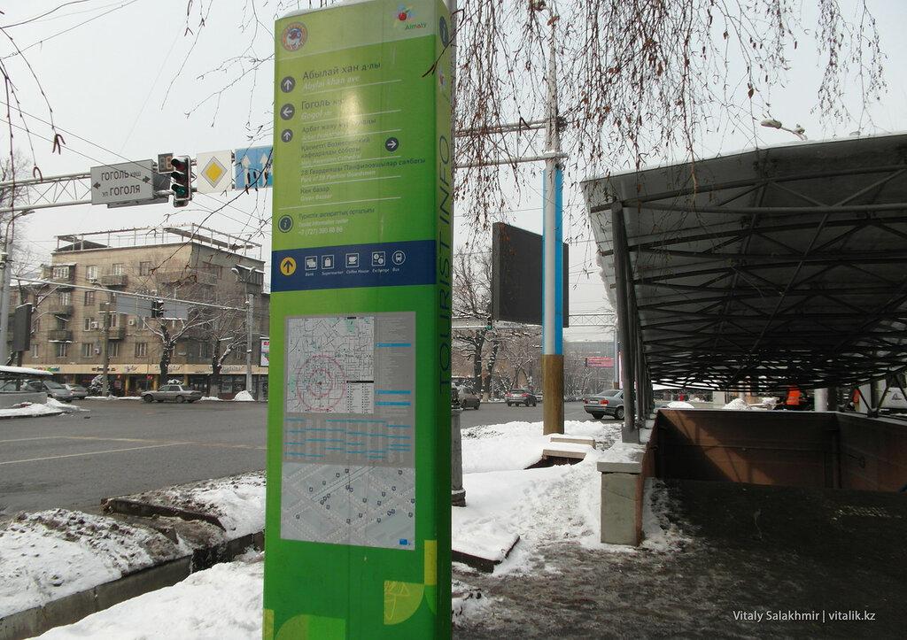 Туристическое инфотабло, Алматы.