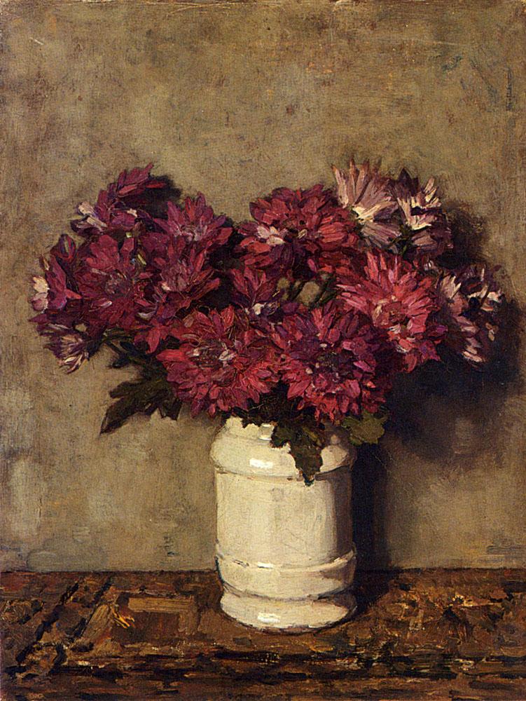 Йоханнес Эверт Аккеринга. Хризантемы в вазе.