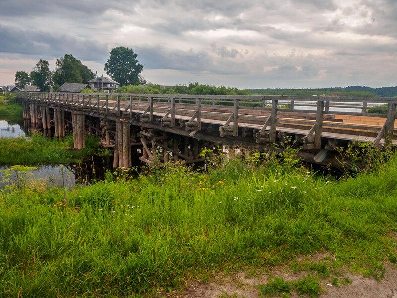 с деревянным мостом через Вонгуду.