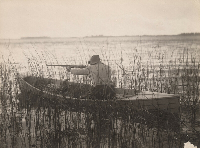 Hunting from canoe, 1909