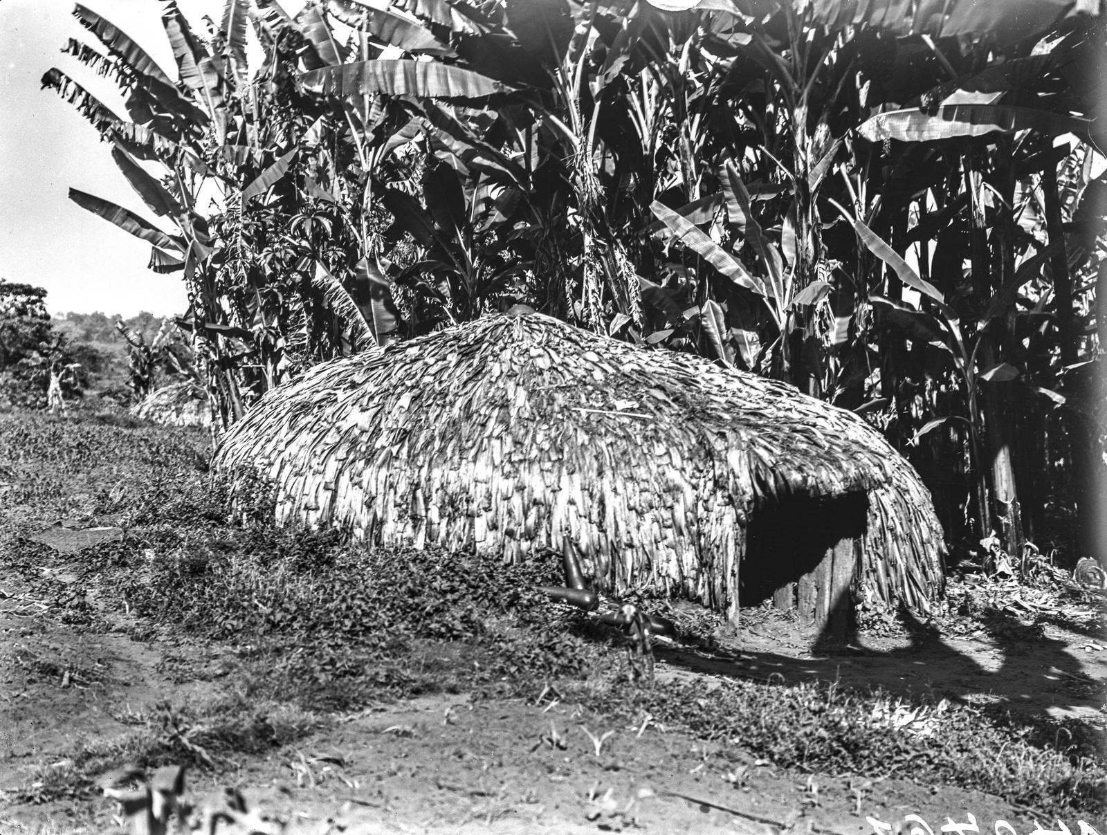 167. Круглая хижина из соломы народности вамеру