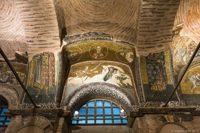 Бегство Елизаветы в горы. Мозаики и фрески монастыря Хора. Церковь Христа Спасителя в Полях.
