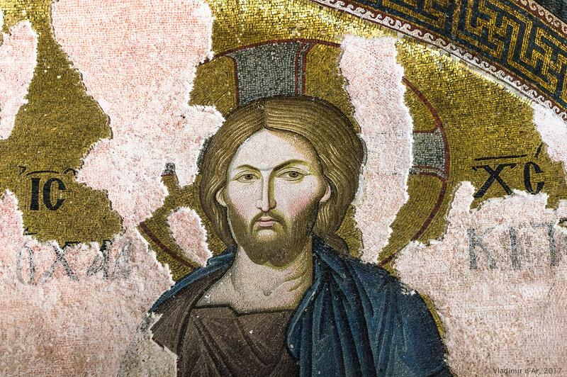 Деисус. Мозаики и фрески монастыря Хора. Церковь Христа Спасителя в Полях.