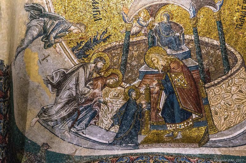 Введение Марии во Храм. Мозаики и фрески монастыря Хора. Церковь Христа Спасителя в Полях.