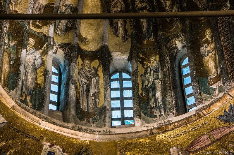 Христос Вседержитель. Потомки Иакова. Мозаики и фрески монастыря Хора.