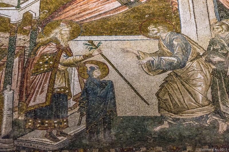 Процветший посох Иосифа. Мозаики и фрески монастыря Хора. Церковь Христа Спасителя в Полях.