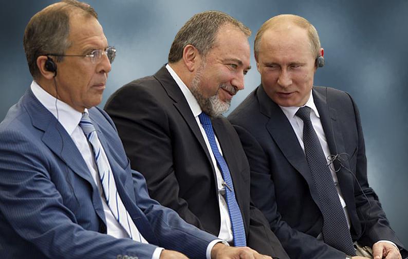Сергей Лавров, Авигдор Либерман и Владимир Путин